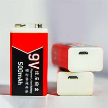 将图片加载到图库查看器,2PCS 500mAh/1000mAh USB Charging 9V Li-ion Battery USB Rechargeable battery for Multimeter Microphone Toy Remote Control KTV Use