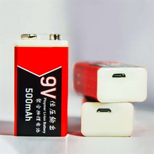 2PCS 500mAh/1000mAh USB Charging 9V Li-ion Battery USB Rechargeable battery for Multimeter Microphone Toy Remote Control KTV Use