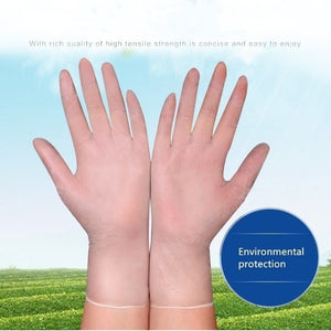 100PCS Powder-free Thickened Transparent Gloves Prevention Of Virus Micro-bomb Disposable Gloves