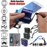 2020 USB Hand Crank Manual Dynamo Phone Emergency Charger For MP4 Mobile Phone Tablet Outdoor Power Supply