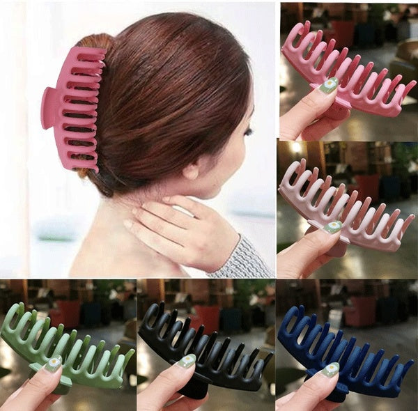 DIY Simple Multi ABS Large Size Hair Clips Head Hair Claws Hair Styling Tools Accessories
