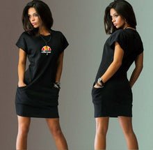 Load image into Gallery viewer, Women's Fashion Ellesse Short Sleeve Slim Dress Summer Casual Dress