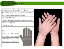 Load image into Gallery viewer, High Quality 100PCS Disposable Pvc Rubber Powder-free Transparent Gloves Thickened