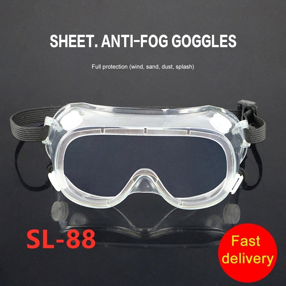 2020 New Outdoor Protective Glasses Safety Protection Anti-fog Anti-splash Fully Sealed Sand-proof Wind-proof Goggles Black/White SL-69 /80/ 88