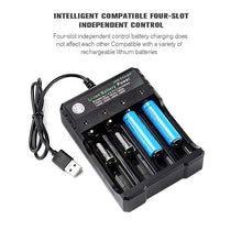 Load image into Gallery viewer, New 4/8 slots Battery Charger Universal Smart Chargering for Rechargeable Lithium Battery Li-ion 18650 18500 16340 14500 26650 Ni-MH/Ni-Cd A AA AAA SC C D Batteries