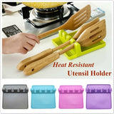 1PC Kitchen Accessories Heat Resistant Silicone Utensil Holder Organizer Rack Spoon Rest Ladle Holder Storage Cooking Tools Kitchenware Bracket