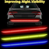 5 Color Waterproof Car Auto Reflective Sticker Warn Strip Tape Car Trunk Bumper Warning Safety Mark Sticker Car Accessories