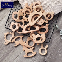 将图片加载到图库查看器,1PC Beech Wooden Pendant Baby Teether Rodent Koala Animal Toddler Teething Sensory Toys