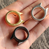 Self-defense Cat Ear Single Finger Ring Ring Window Breaker Ladies Anti-wolf Men Outdoor Supplies Outdoor Equipment