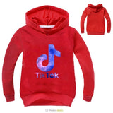2019 New Arrival Popular Cartoon tik tok Printed Hoodies Print Hoodies Clothes Children Cartoon Pullover