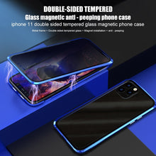 将图片加载到图库查看器,Magnetic Tempered Glass Privacy Metal Phone Case Coque 360 Magnet Antispy Cover For  iPhone 11/11 Pro /11 Pro MAX/6 Plus/6s Plus/iPhone 7/7 Plus/ 8/ 8 Plus/iPhone X /Xs /XR /Xs Max