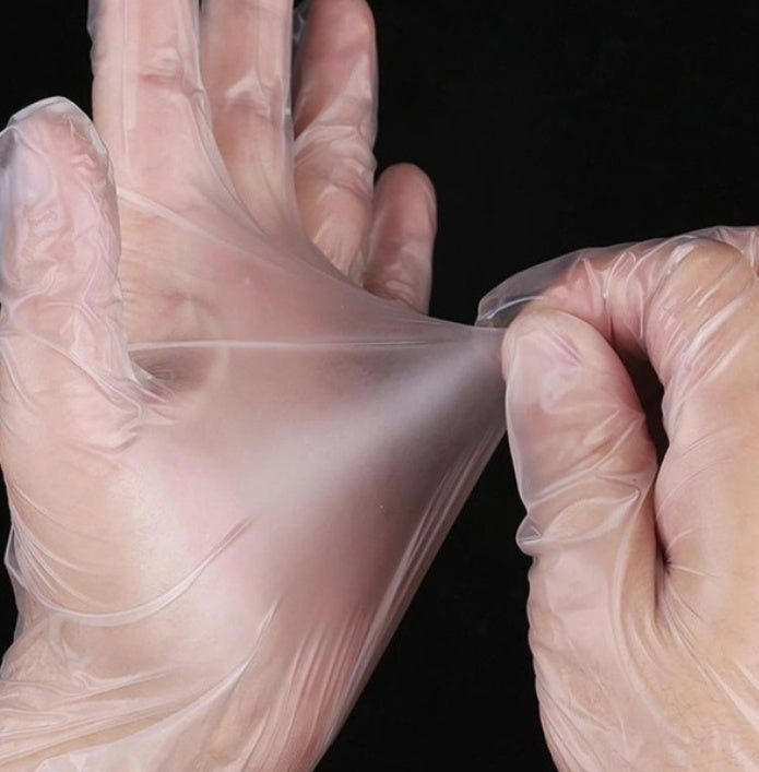 100PCS Pvc Disposable Gloves Micro-bomb Thickened For MERS SARS
