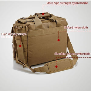 1000D Tactical  bag Camouflage Waterproof Oxford Cloth Outdoor Shoulder Hiking Backpack Army Fan 511 Computer Bag