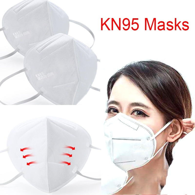 1-10pcs Filter 95% KN95 Face Mask Dust Proof Respirator Protection Mask