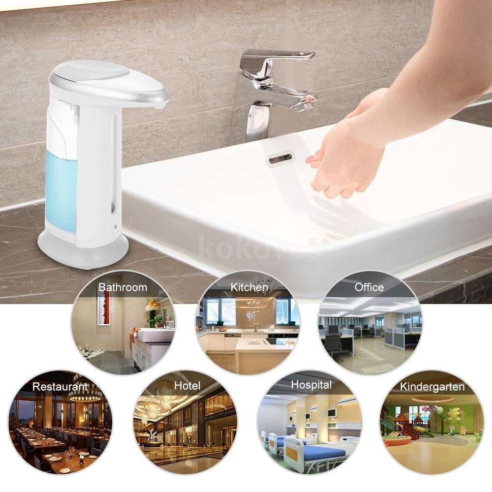 Automatic Soap Dispenser Alcohol Hand Washer Gel Bottle with Intelligent Infrared Sensor Touchless Soap Dispensers Suitable for Hospital Bathroom KTV School