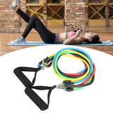 11PCS Home Workout Exercise Resistance Bands Set Pull Rope Fitness Gym Equipment