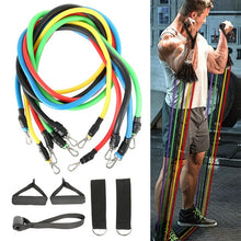Load image into Gallery viewer, 11PCS Home Workout Exercise Resistance Bands Set Pull Rope Fitness Gym Equipment