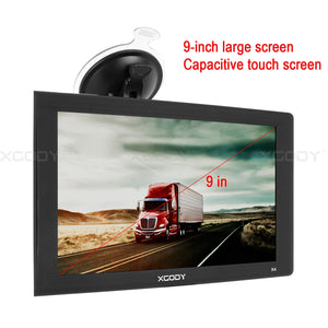 9inch truck gps big touchscreen(Free Maps) Trucking GPS Xgody gps navigation for car 8GB ROM SAT NAV System Navigator Driving Alarm Lifetime Map Updates