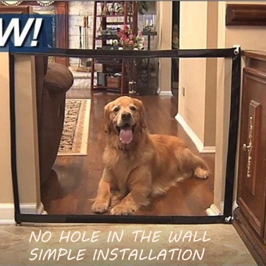 Pet Saftey Gate - Magic Gate Pet safety Enclosure Portable Folding Pet Isolation Net Safety Guard For Pets Dog Cat 2 Size