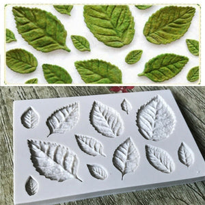 Silicone mold for leaves