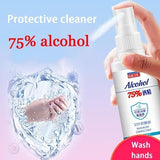 60ML Household Disposable Hands-Free Water Disinfection Hand Sanitizer Gel Portable Spray Sterilization House Disinfection Medical Supplies