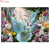 Full Dimond 100% Diy Diamond Painting Fairy Butterfly Elf Full Square/round Diamond Embroidery Unicorn Home Decor Picture Of Rhinestone Mosaic