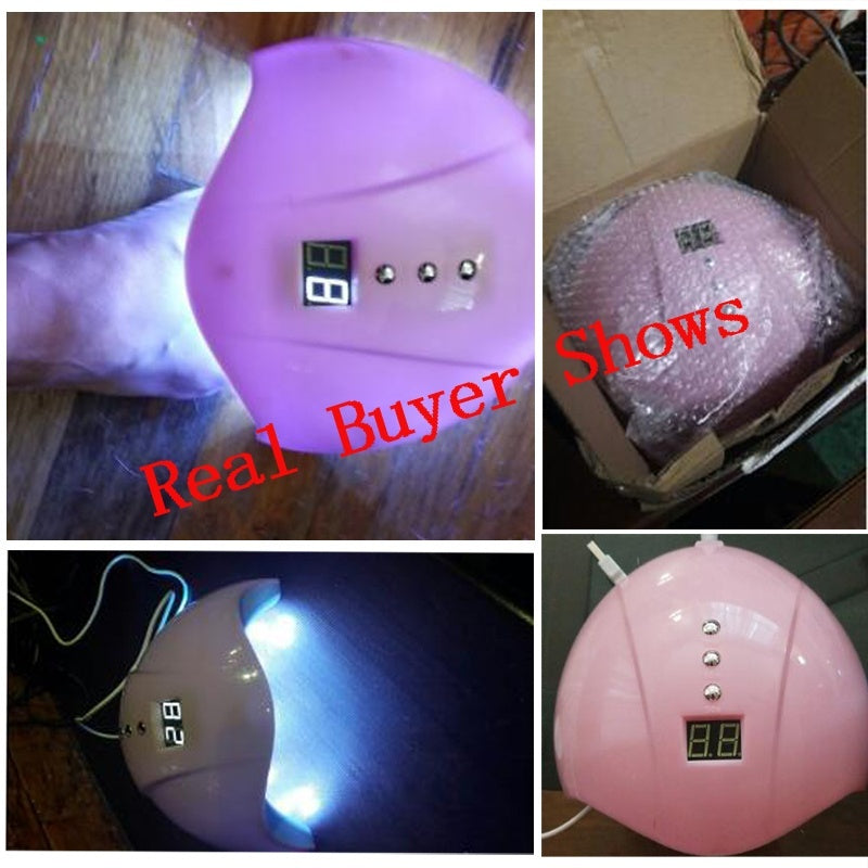 6W/ 36W Nail Dryer UV LED Nail Lamp for All Gels Polish with Infrared Auto Sensing Timer USB Smart Timing Nail Art Tools