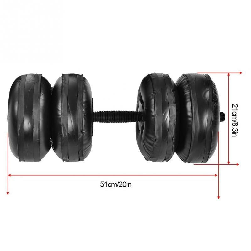 4 Style Adjustable Dumbbell Water-filled Barbells Eco-friendly Fitness Equipment