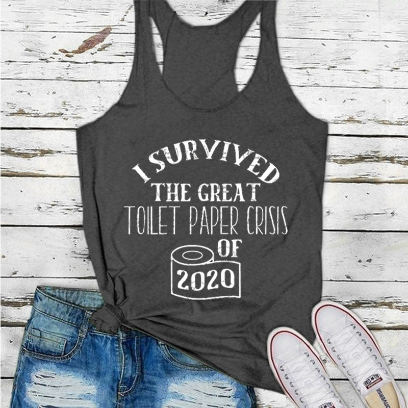 2020 Women's Fashion Summer Sleeveless Printing Loose Tops Casual Tank Top