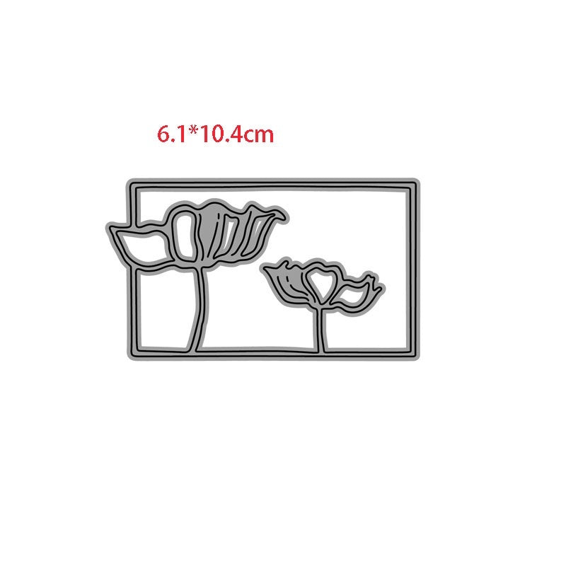 CH People and Flower Metal Cutting Dies Stencils for DIY Scrapbooking/photo Album stamps Decorative Embossing DIY Paper Card