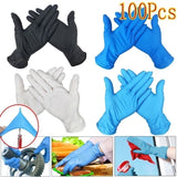 100PCS Disposable Glove Anti Virus Protective Gloves Household Cleaning Mechanic Tattoo Gloves