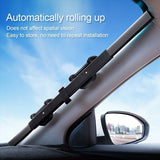 Car Retractable Windshield Sun Shade Block  Sunshade Cover Front Rear Window Foil Curtain  For Solar Anti-UV Protection 46/65/70/80cm