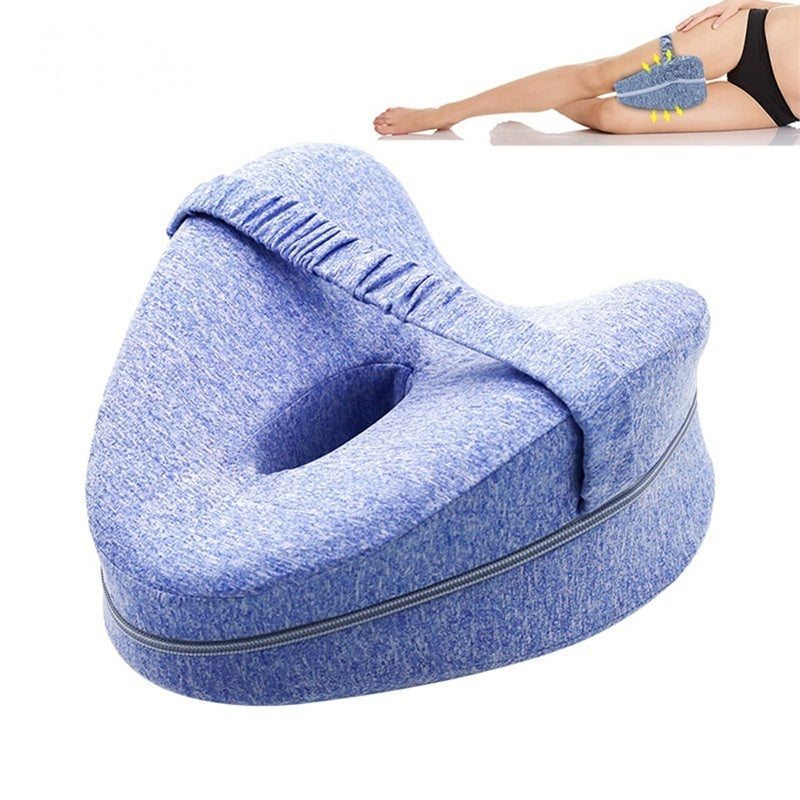 Heart-shaped Orthopedic Pillow for Sleeping Memory Foam Leg Positioner Pillows Knee Support Pillow Between Legs for Hip Pain Sciatica