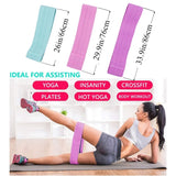 3Pcs/Set Booty Builder Hip Resistance Bands Fabric Non Slip for Fitness Yoga Pilates Legs and Butt Glute Workout Stretching Training