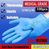 10/50/100pcs Industrial Gloves Kitchen Alkali Tattoo Nail Art Beauty Salon Industrial Auto Repair Gloves Disposable Nitrile Gloves Size S/M/L