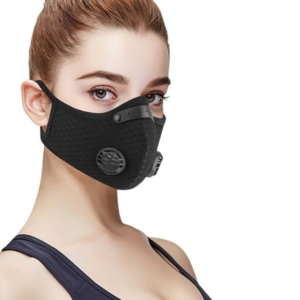 Dust Mesh Mask Activated Carbon Filter Dust Odor Mask Anti-fog Electric Mask Face Dust Gas Mask+Filter Element