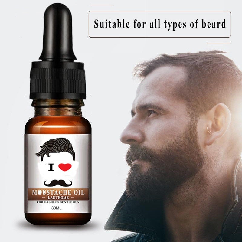 Natural Beard Oil and Balm Moustache Wax for Styling,Nutrient Solution Moisturizing Beard Care