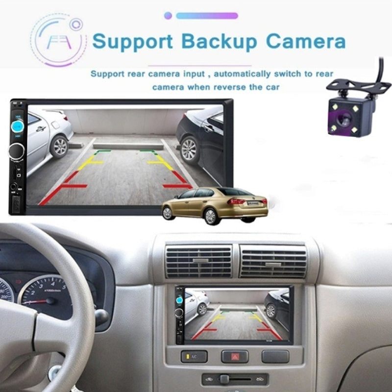2 din Car Multimedia Player 7' Autoradio 2din Stereo Android Mirrorlink Car Player with rear Camera
