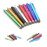 10/5/2/1Pcs Metal Mesh Micro-Fiber Tip Touch Screen Stylus Pen For Smart Phone Tablet PC(Color:Random)
