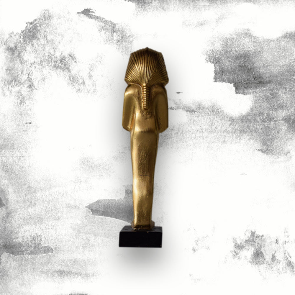 Golden Tutankhamun fibre glass statue