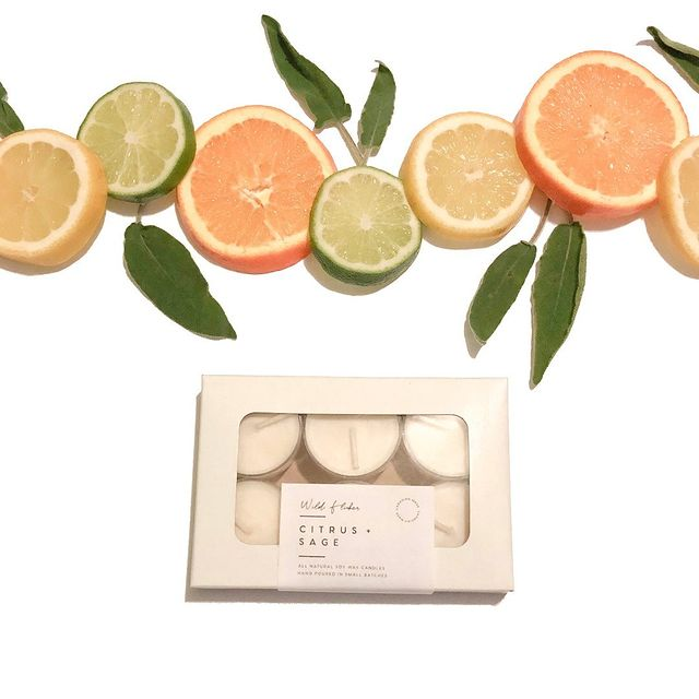 Citrus + Sage Soy Wax Tealights