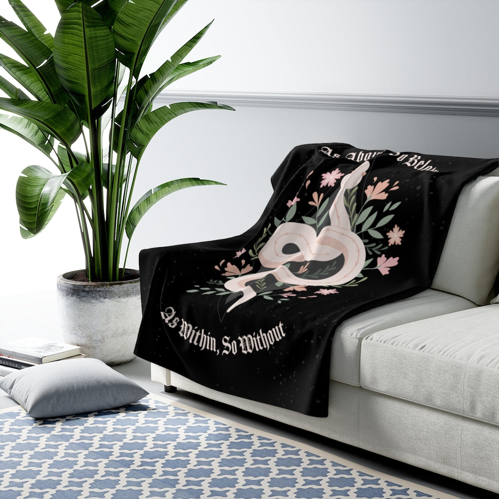 Witchy Snake Sherpa Fleece Blanket