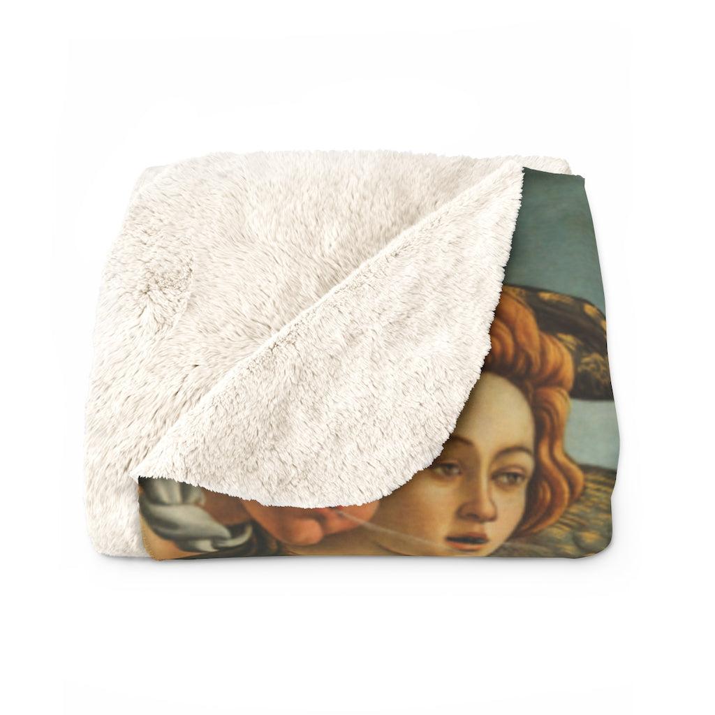 Birth of Venus Sherpa Fleece Blanket