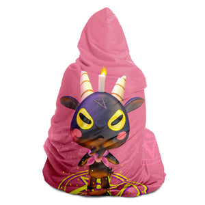 Baphomet 3D Hooded Blanket - Pink