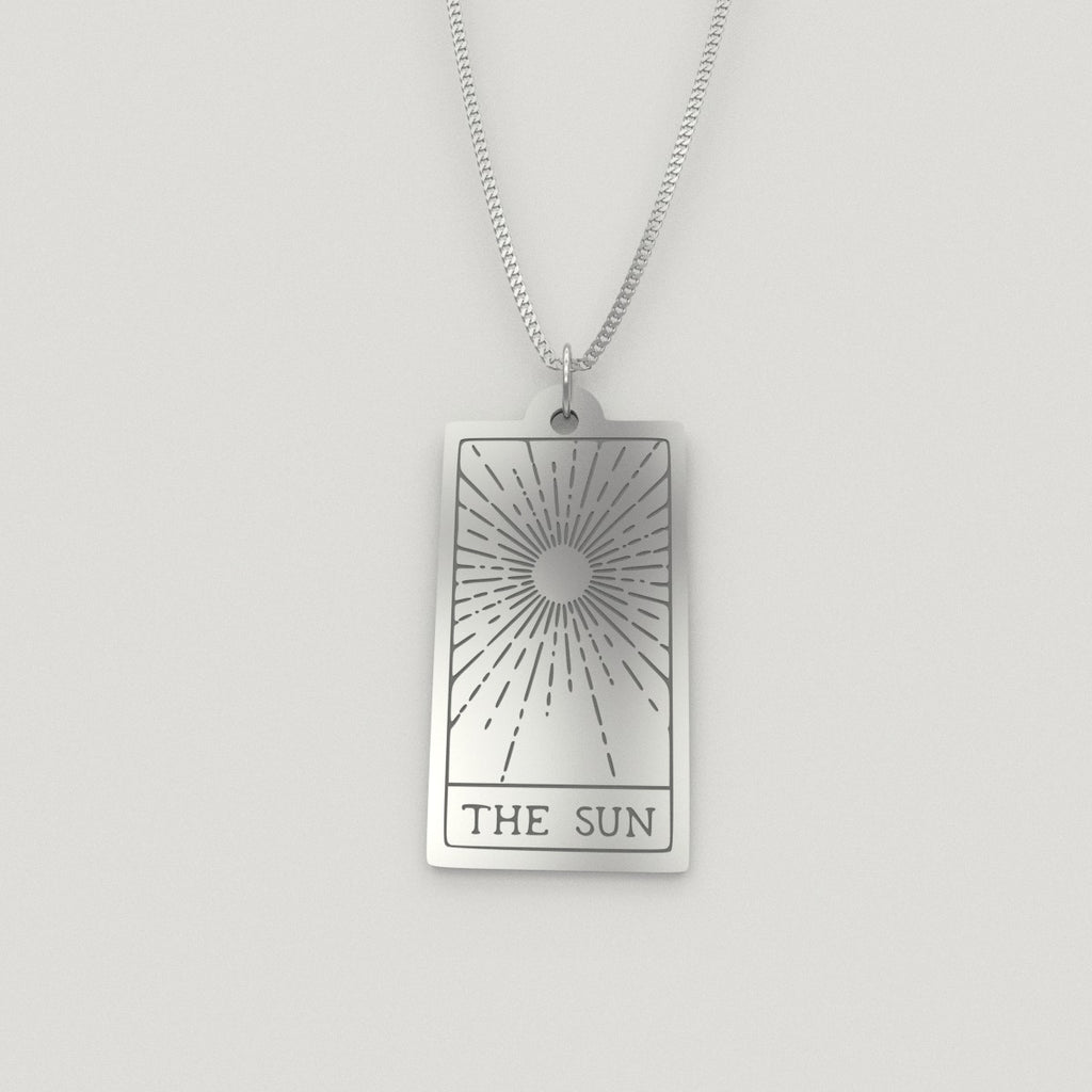 Tarot Card The Sun Necklace
