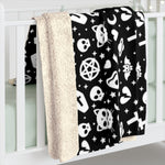 Gothic Witchy Sherpa Fleece Blanket