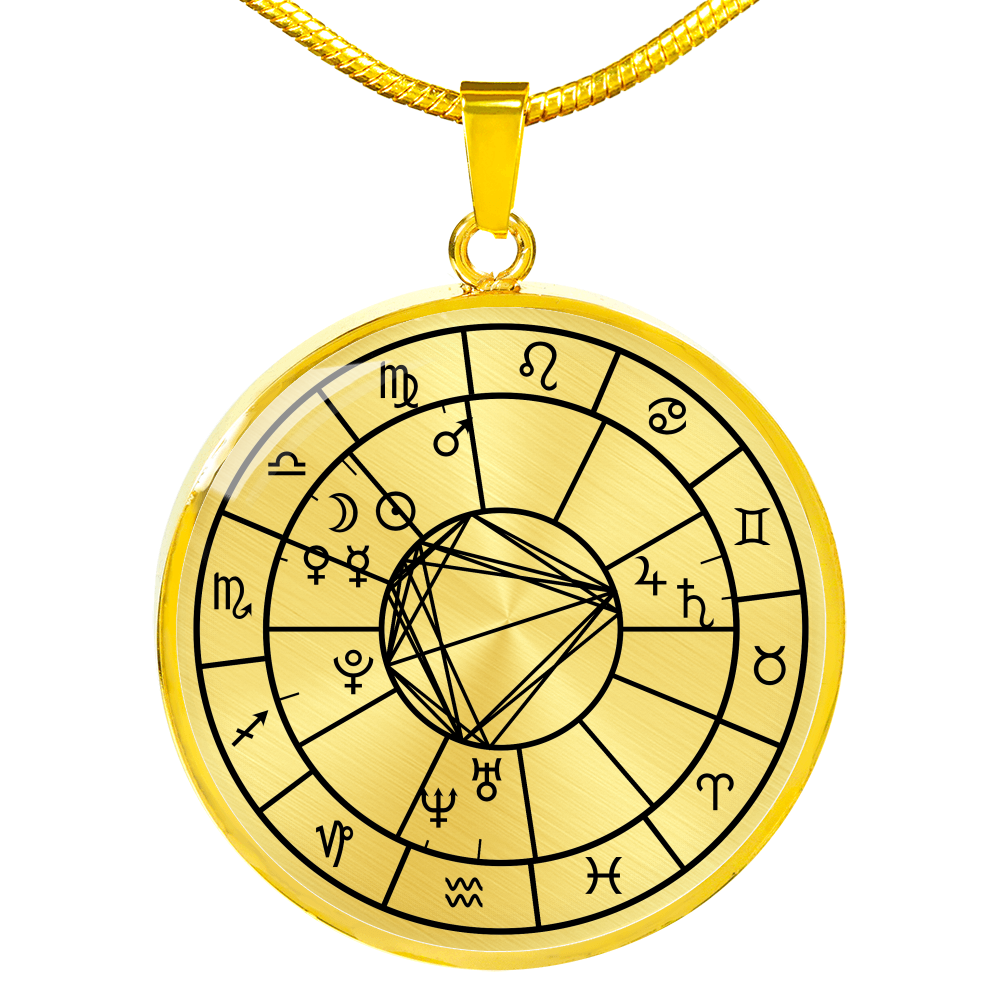 Birth Chart Necklace Gold