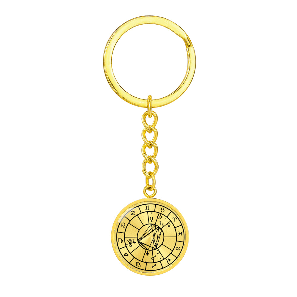 Personalized Natal Chart Pendant with Keychain