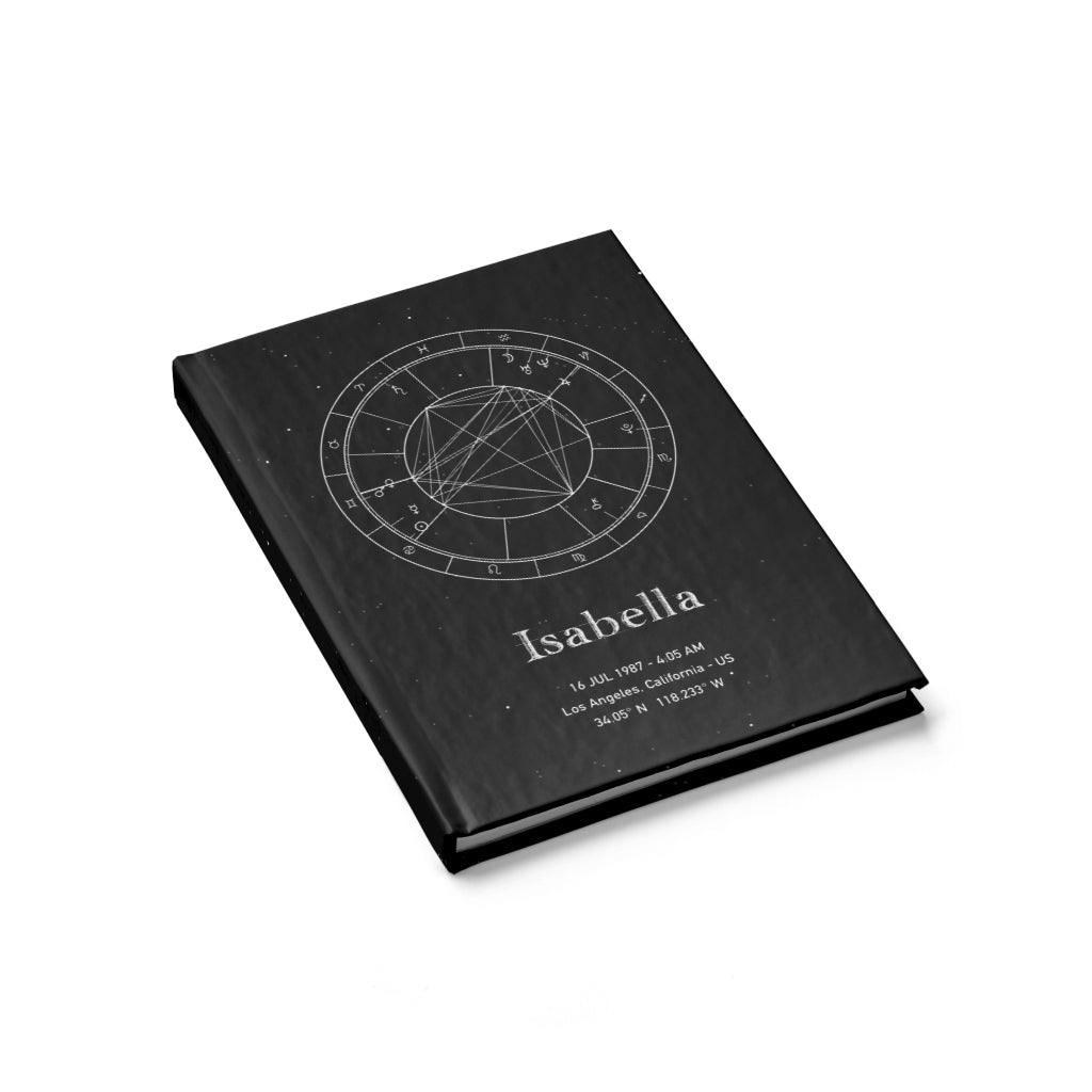 Personalized Birth Chart Hardcover Journal