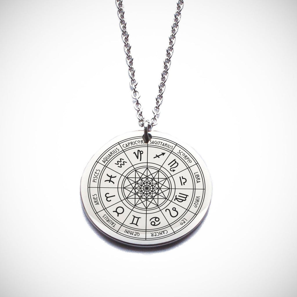 Zodiac Signs Wheel Necklace